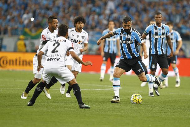 Apesar do equilíbrio, gremistas foram mais perigosos (Foto: Lucas Uebel/Grêmio)
