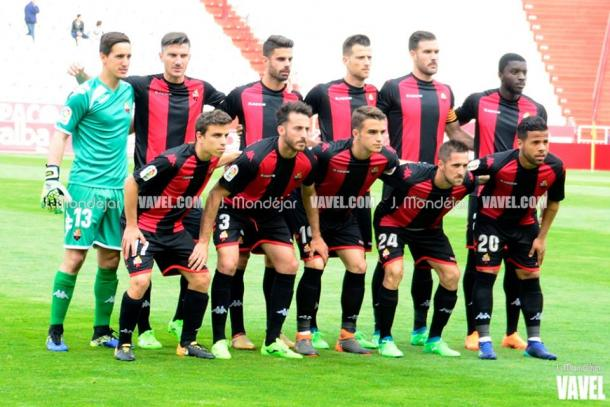El once titular del CF Reus ante el Albacete Balompié   Foto: J. Mondéjar (Vavel)