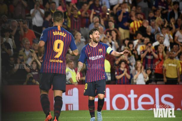 Suárez y Messi firmaron el segundo y tercero respectivamente   Foto: Noelia Déniz - VAVEL
