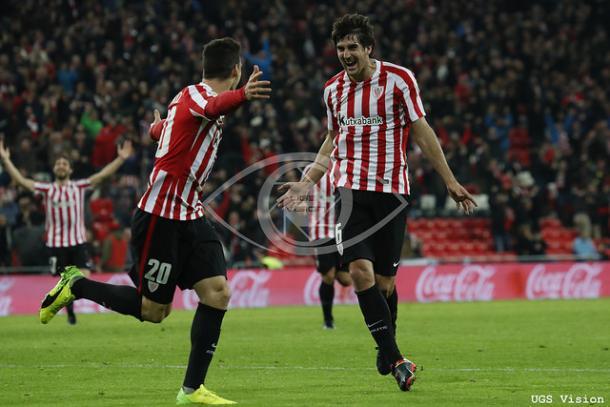 San José celebra el gol del triunfo frente al Celta. | UGS Vision
