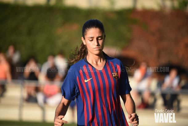 Jana Fernández con el filial esta temporada | Foto: Noelia Déniz - VAVEL
