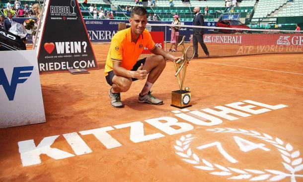 Martin Klizan came out of nowhere to claim the final clay court crown of 2018. Photo: Generali Open