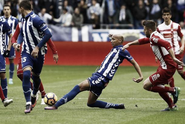 Deyverson, en el encuentro de la pasada jornada ante el Espanyol | Foto: web oficial del Deportivo Alavés