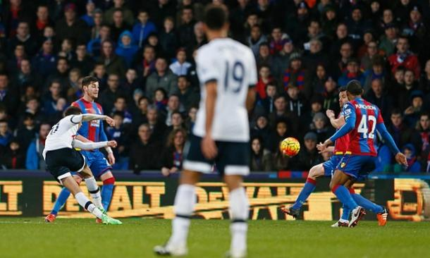 Dele Alli scoring his wonderful against Crystal Palace | Photo: Getty