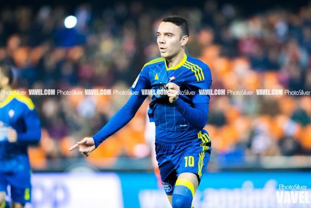 Iago Aspas en la celebración de un gol   Foto: VAVEL