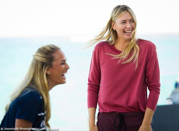 Maria Sharapova was so touched by the love she received from the Puerto Rican people when she played an exhibition with Puig last December that she has vowed to donate all her profits from Sugarpova.com, her premium line of gummy candies and chocolate bars, from now until the end of the year directly to the Puerto Rican's relief fund. | Photo: Jimmie48 Tennis Photography