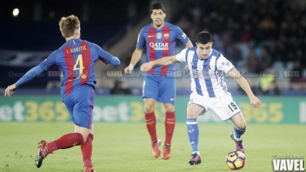 Partido entre el FC Barcelona y la Real Sociedad. | Foto: Óscar Alonso, VAVEL