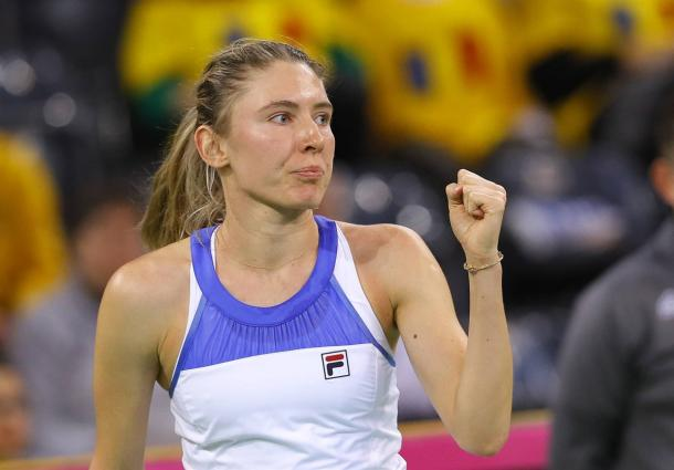 Ekaterina Alexandrova was clinical in the tie, bringing to Russia two crucial victories | Photo: Robert Ghement
