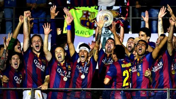 El Barcelona alzando su quinta Champions en Berlin I Fuente: reve.es