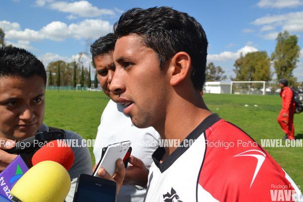 Diego Aguilar en atención a medios | Foto: Rodrigo Peña VAVEL
