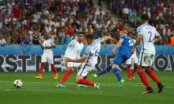 England's defence was troubled by Iceland (Photo: Lars Baron/Getty Images)