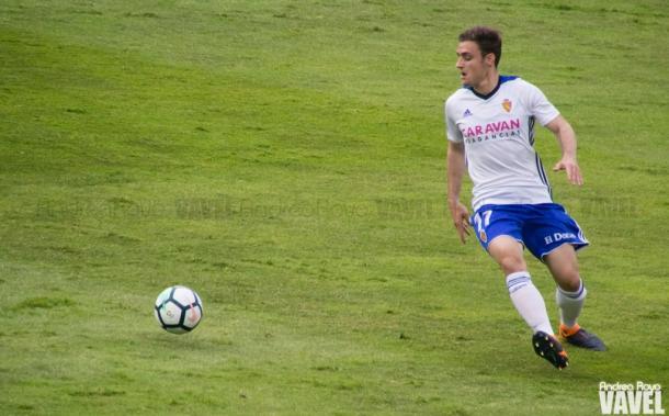Dani Lasure, lateral del Real Zaragoza | Foto: Andrea Royo