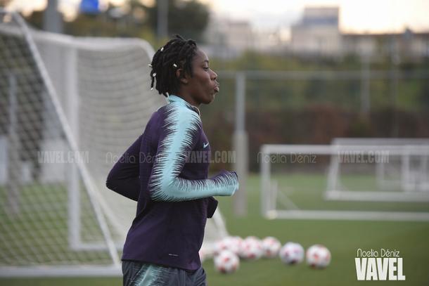 Imagen de archivo de Oshoala, jugadora del Barça Femenino. FOTO: Noelia Déniz
