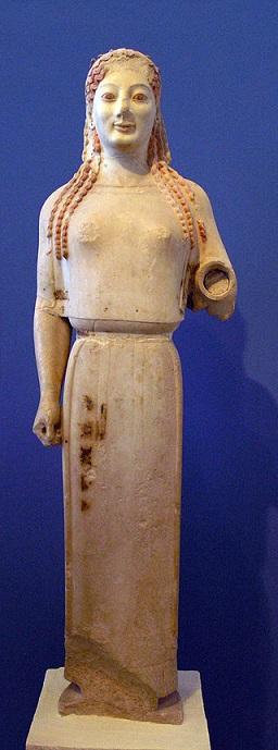 Koré del Peplo en el Museo de la Acrópolis de Atenas.(PD)