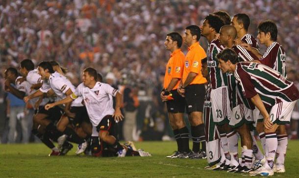 Jogo de volta da final da Libertadores de 2008, contra a LDU