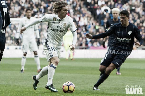 Fornals, en el choque entre Real Madrid y Málaga en el Bernabéu | Foto: VAVEL