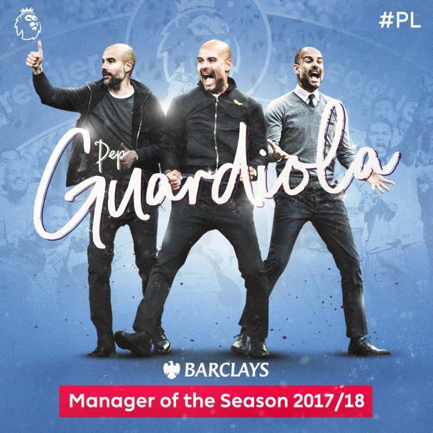 Pep Guardiola , mejor entrenador de la temporada | Foto: Premier League