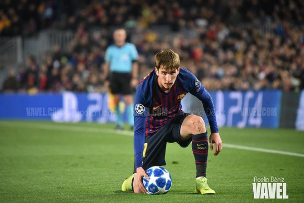 Juan Miranda, lateral zurdo del Barça B, podría repetir titularidad | Foto: Noelia Déniz (VAVEL)