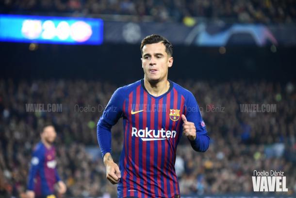 El atacante barsileño dispuso de las ocasiones más claras del Barça en el primer tiempo / Foto: Noelia Déniz (VAVEL.com)