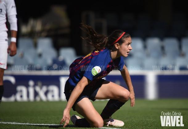 Aitana, jugadora del FC Barcelona. FOTO: Noelia Déniz
