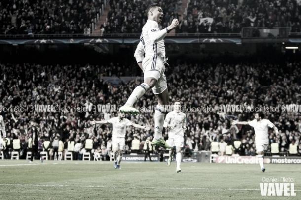 Casemiro celebrando un gol. Imagen: Daniel Nieto (VAVEL)