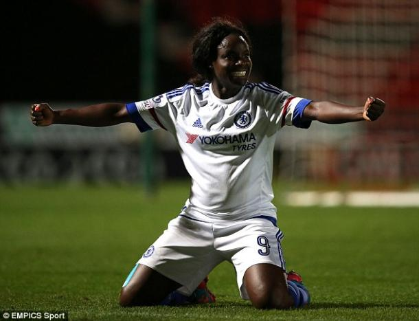 Eni Aluko's 84th minute strike rounded off a great night for the Blues. (Photo: EMPICS Sport)