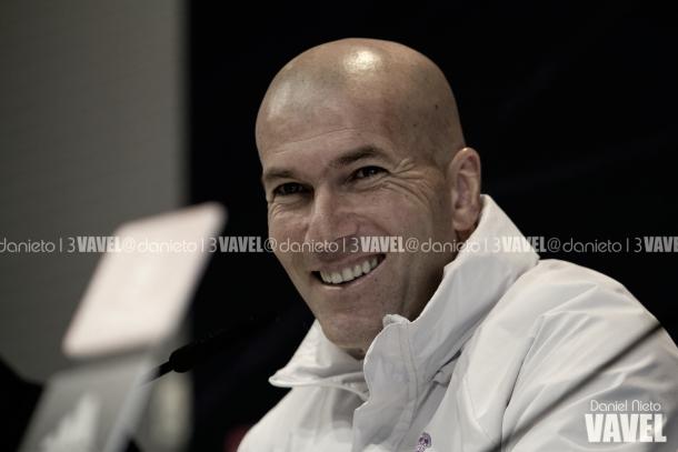 Zidane en  rueda de prensa / Daniel Nieto (VAVEL)