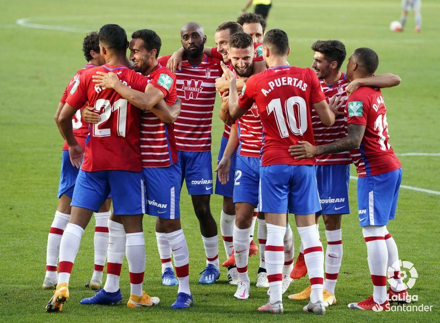 Celebración del gol del Granada en el encuentro frente al Athletic Club. Foto: LaLiga Santander