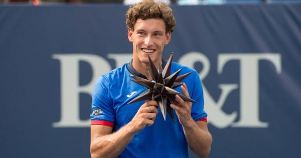 Pablo Carreno Busta claimed the trophy in Winston Salem back in 2016. Photo: Winston Salem Open