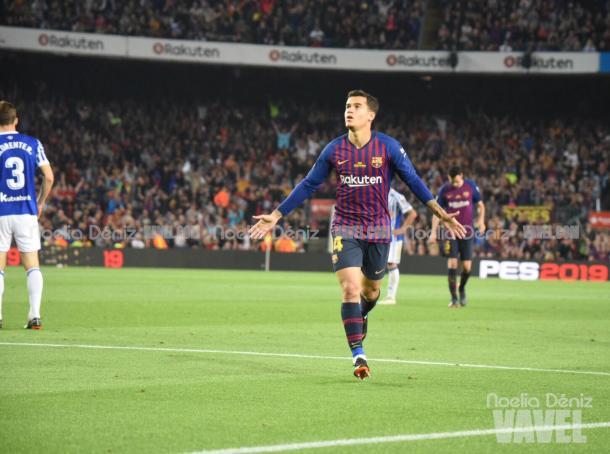 Coutinho da la victoria al Barcelona | Foto: Noelia Déniz - VAVEL