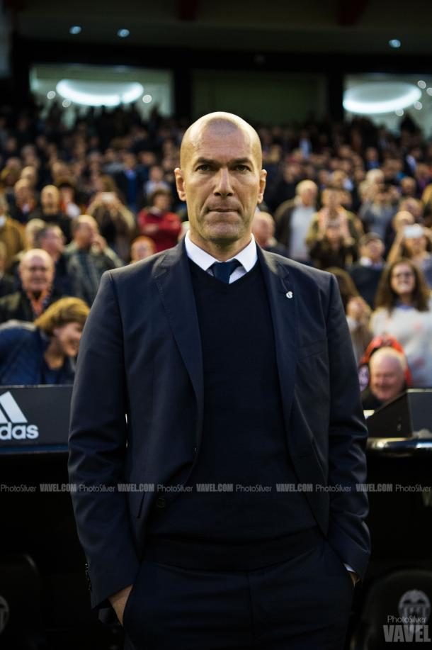 Zinedine Zidane, antes del partido contra el Valencia CF. Imagen: VAVEL