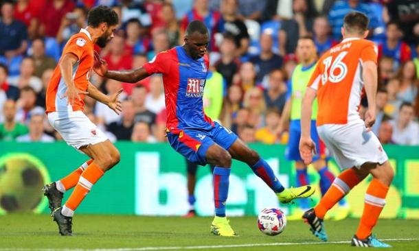 Christian Benteke made his Palace debut in the Blackpool victory | Photo: Getty images
