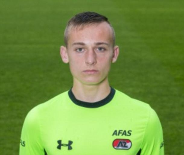 AZ Alkmaar youngster Diego Coret is hoping to earn a scholarship with Leicester City. Photo: AZ Alkmaar