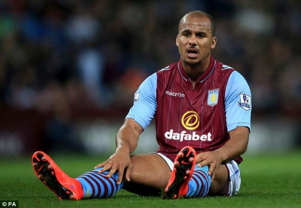 It's been a dreadful season for Villa, and for now former club captain Agbonlahor. (Photo: PA)