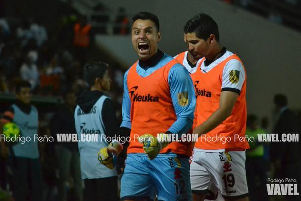 Antonio Iriarte en festejo de gol durante la final ante los Bravos de Juárez | Foto: Rodrigo Peña VAVEL