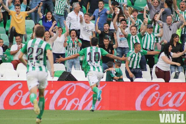 Dani Ceballos, decretaba el 2-0. Foto: Raúl Pajares-VAVEL-.