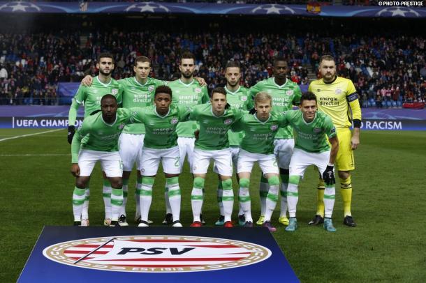 El XI del PSV ante el Atlético de Madrid | Foto: PSV