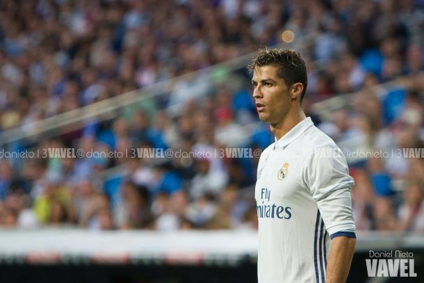 Cristiano Ronaldo with Real Madrid shirt