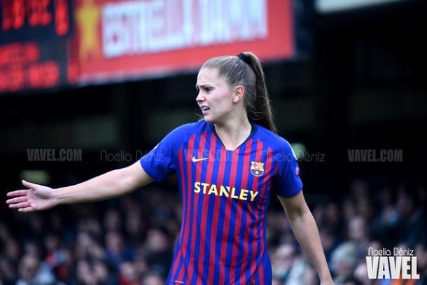 Lieke Martens en la semifinal ante el Bayern   Fuente: Noelia Déniz (VAVEL)