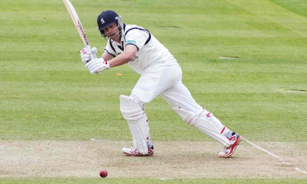 Trott plays into the leg side during his impressive knock (Photo: Mitchell Gunn: Getty Images)