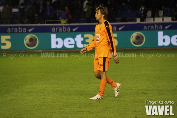 Takashi Inui, durante un partido / Foto: Ángel Ezkurra (VAVEL)