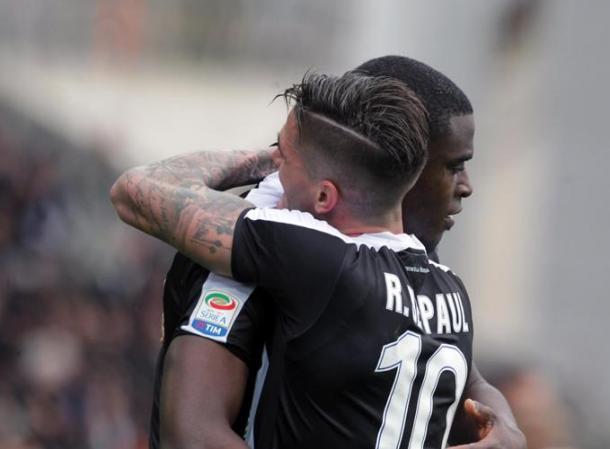 Duvan Zapata porta in vantaggio l'Udinese. Foto: La Stampa