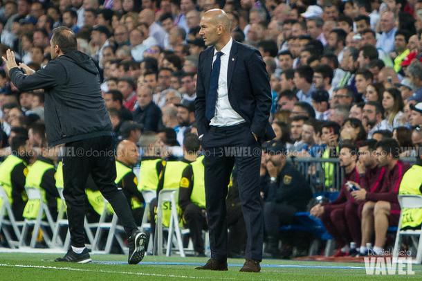 Zidane, al mando del Real Madrid I Foto: Daniel Nieto - VAVEL