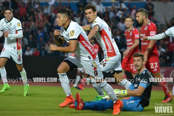 Diego Jiménez festejando su gol ante Mineros en semifinales | Foto: Rodrigo Peña VAVEL