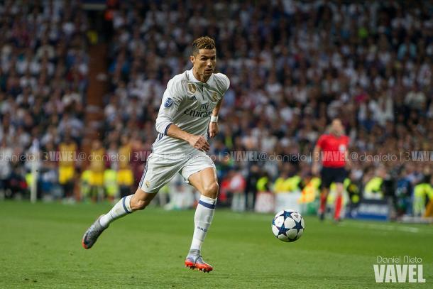 Cristiano Ronaldo en el partido de ida ante el Atlético/ FOTOGRAFÍA: Daniel Nieto (VAVEL).