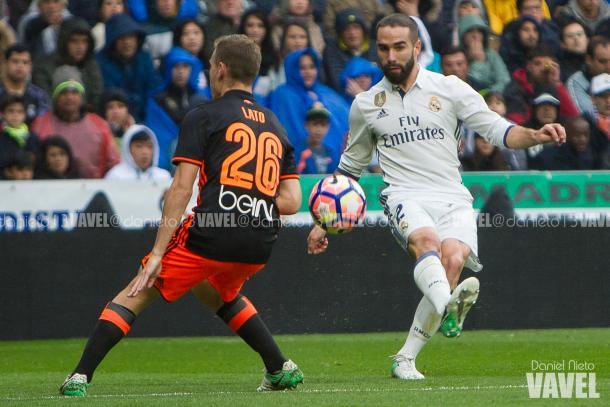 Lato jugando abte el Real Madrid en el Bernabeu - Foto: Daniel Nieto VAVEL.com