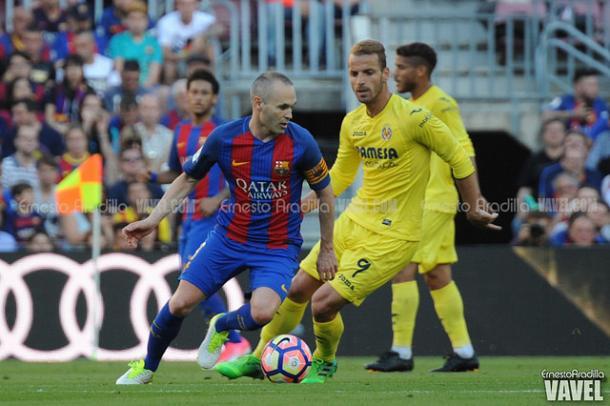 El capitán, durante uno de los últimos partidos de Liga | Foto: Ernesto Aradilla - VAVEL