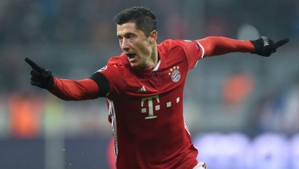 Lewandowski celebrando un gol. Foto: google