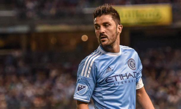 NYCFC captain David Villa wasn't pleased with his sides display (Photo: Alamy)