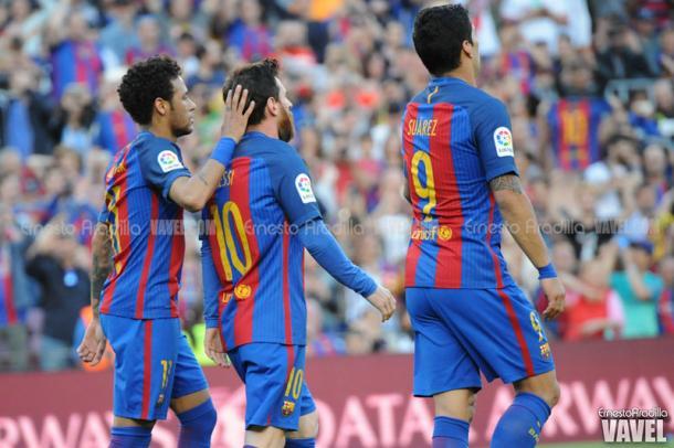 Imagen del partido contra el Villarreal en el Camp Nou. 2016/2017. Foto: VAVEL